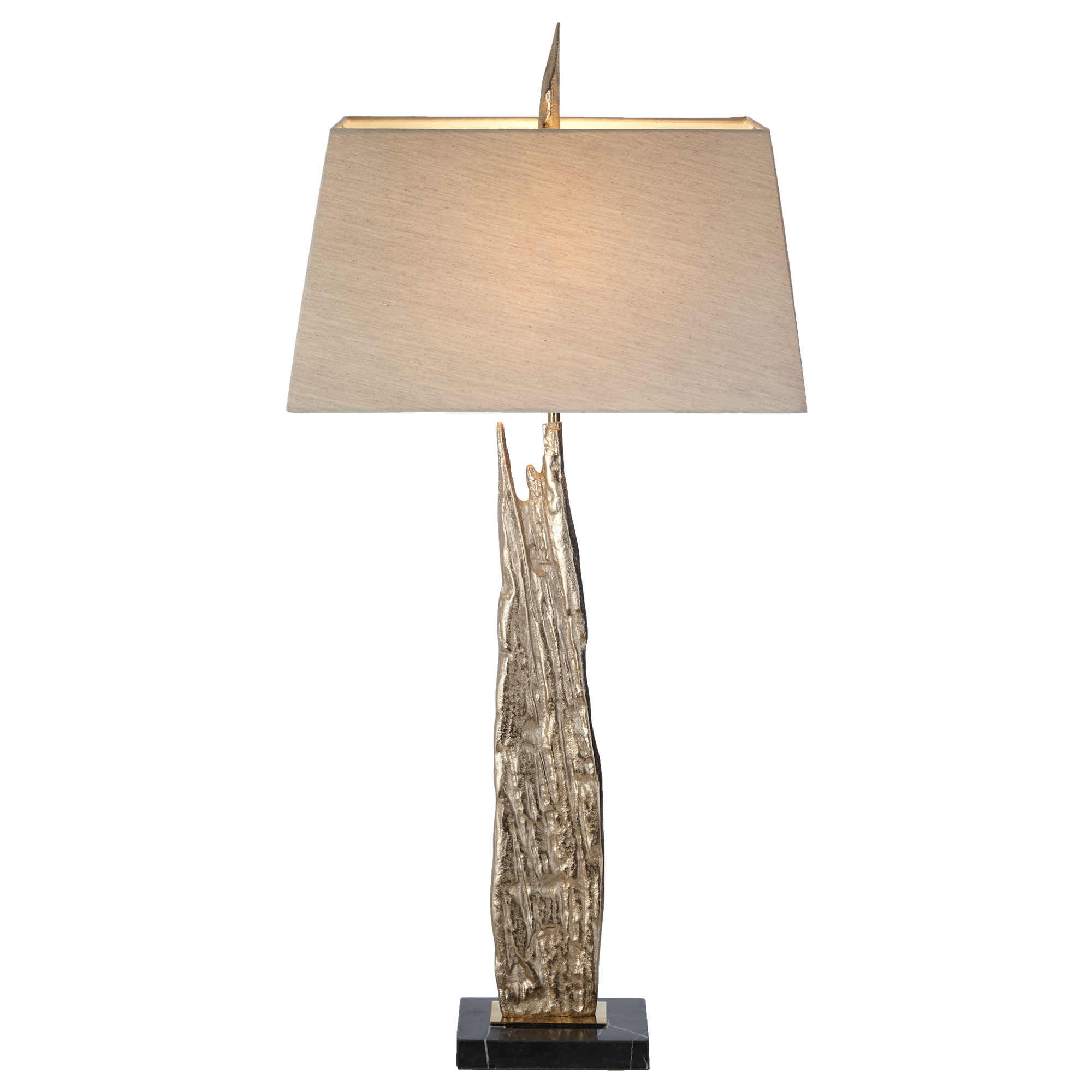 Albi Table Lamp marble base gold shard