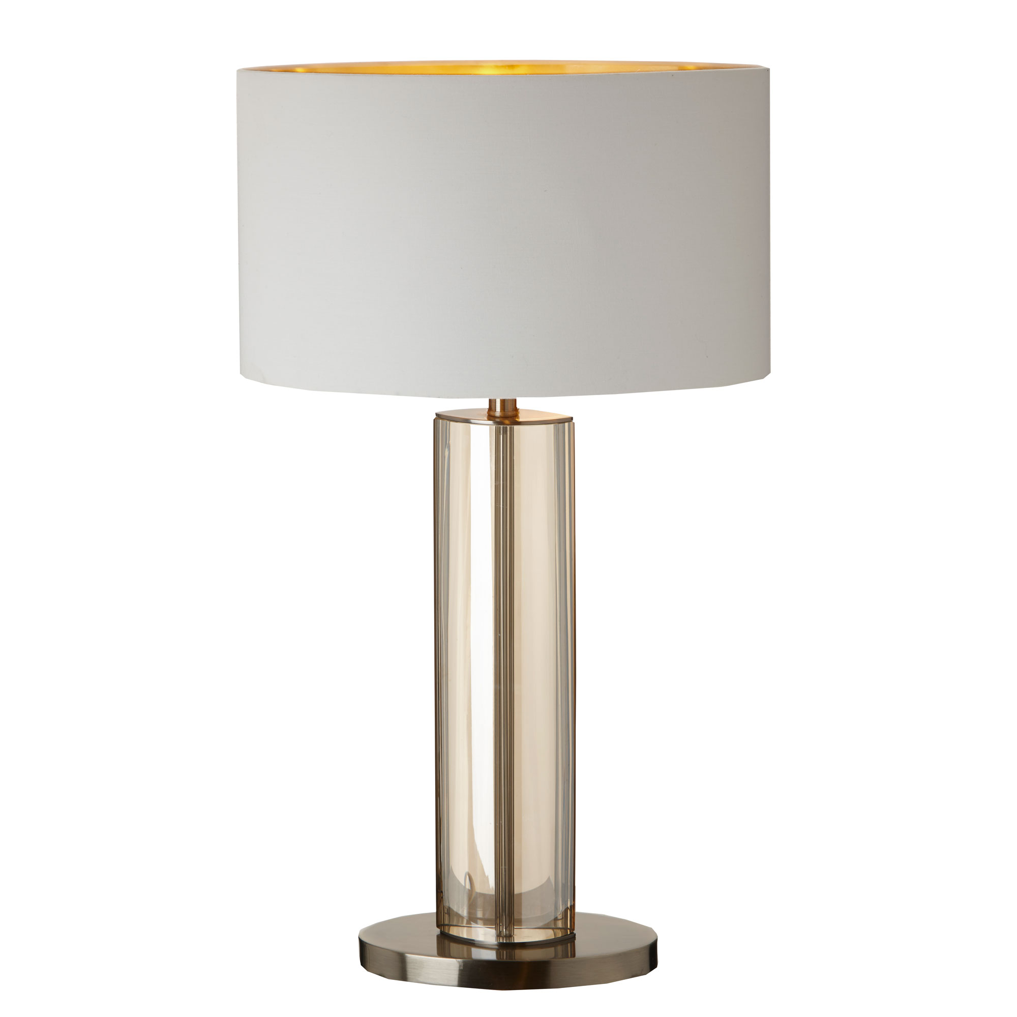 Lisle Table Lamp cognac crystal and antique brass table lamp
