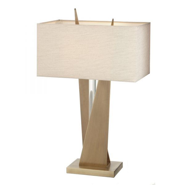Cabra Table Lamp clear crystal centrer with a brass finish