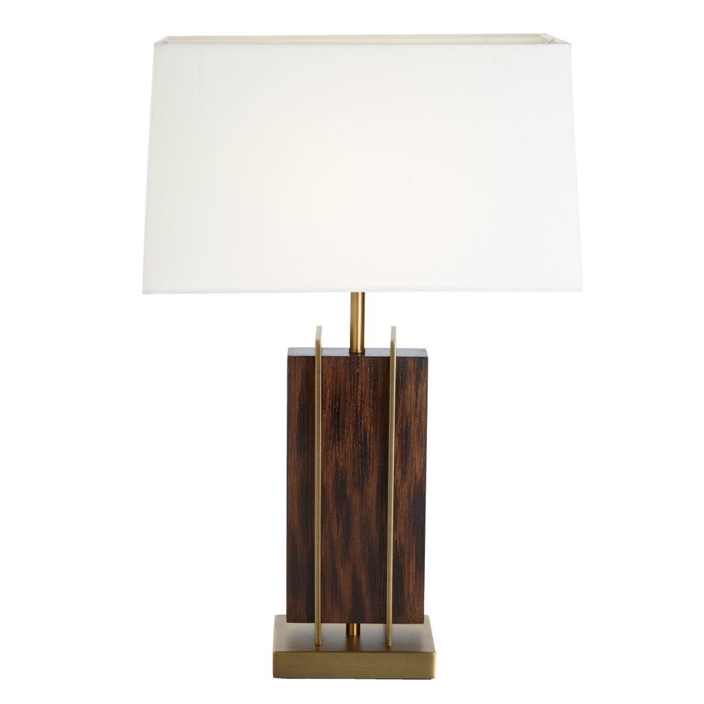 Parcent Table Lamp wood and rosewood vaneered lamp