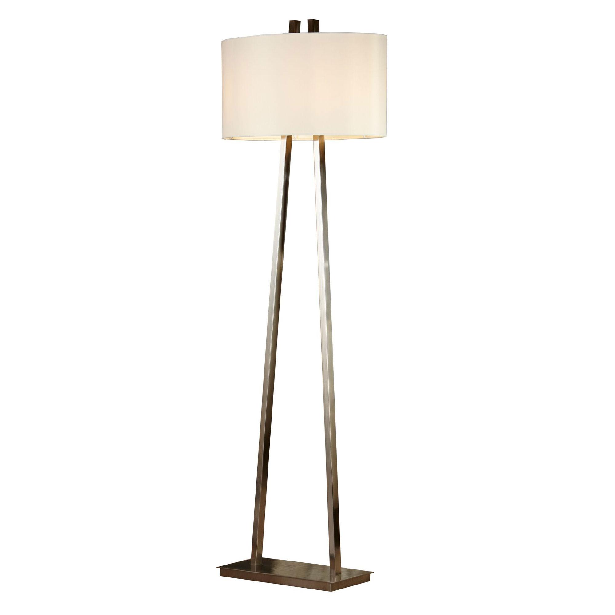 Baxter Floor Lamp This Brushed nickel floor lamp 5889