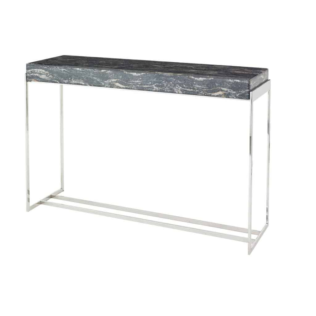 Gianna Console Table 8196 marble printed glass