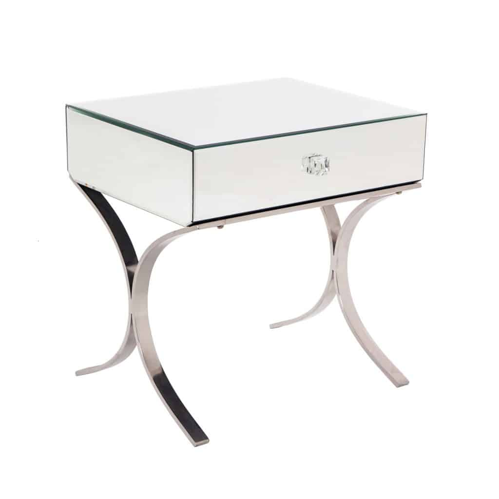 sovana side table mirror finish