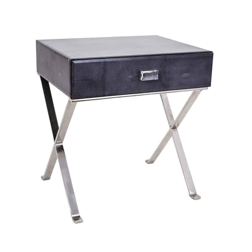 faux Shagreen side table