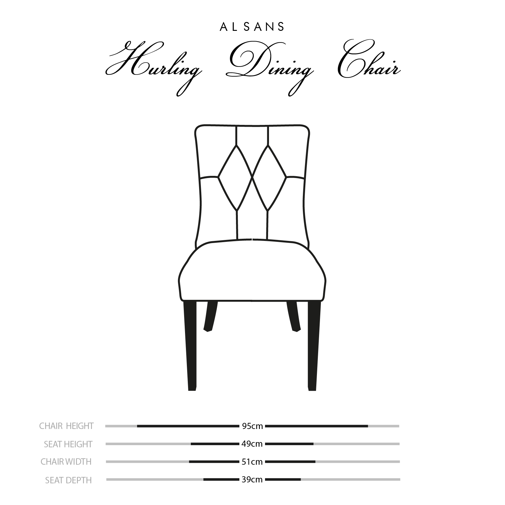 Hurling Dining Chair Dimensions