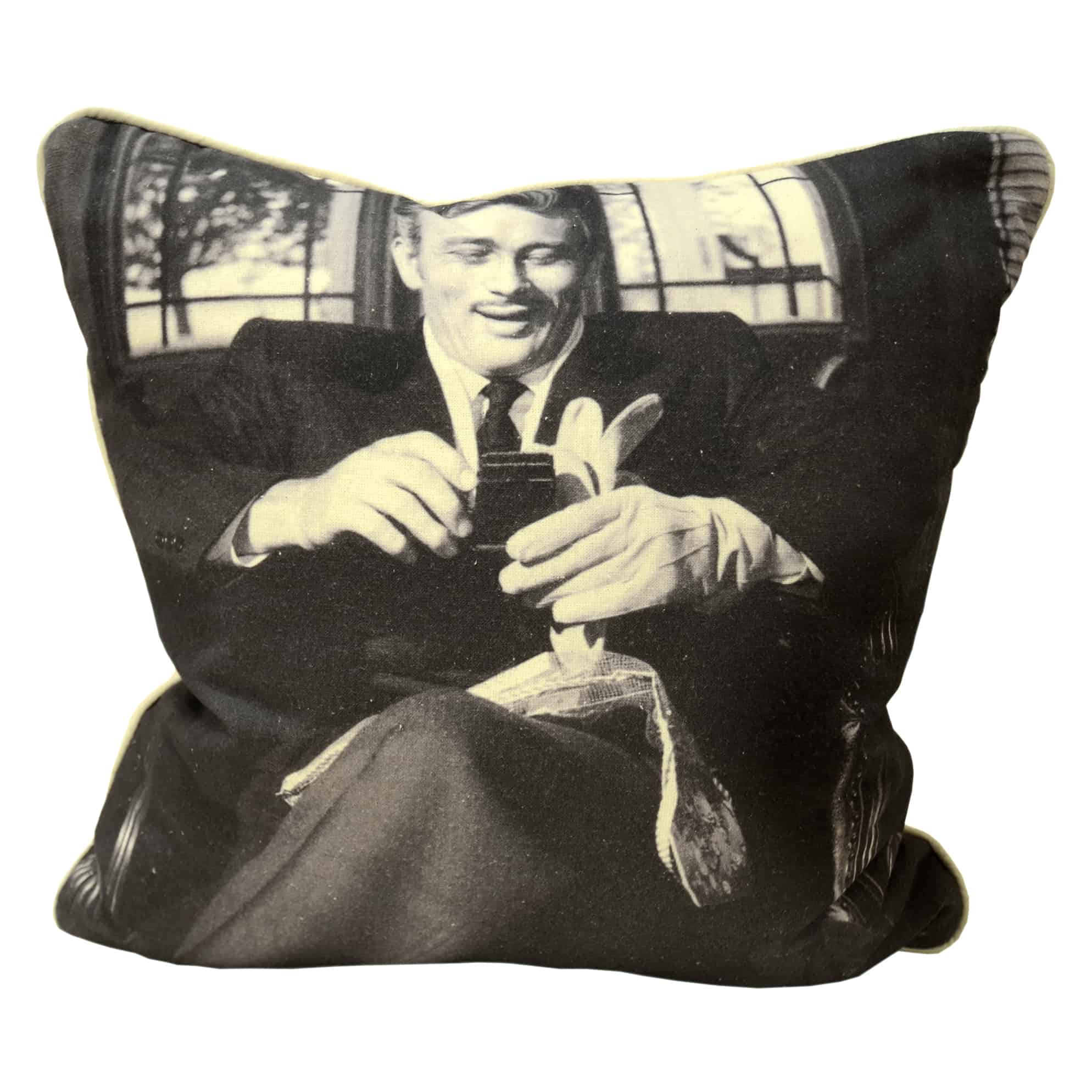 James Dean scatter Cushion, Limited edition black and white print for Shop Alsans