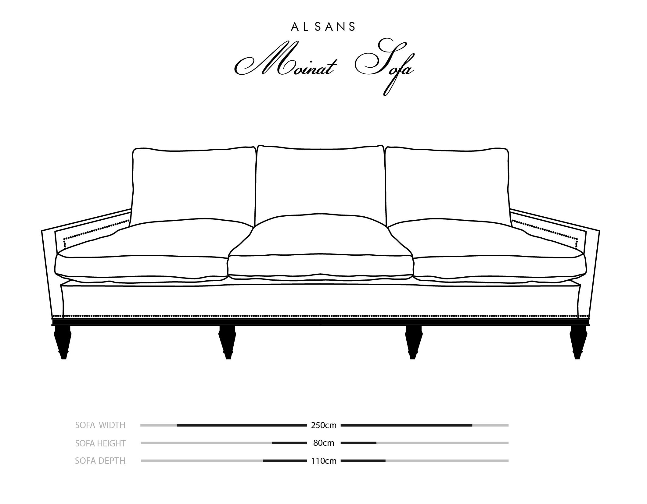 Moinat Sofa Dimensions