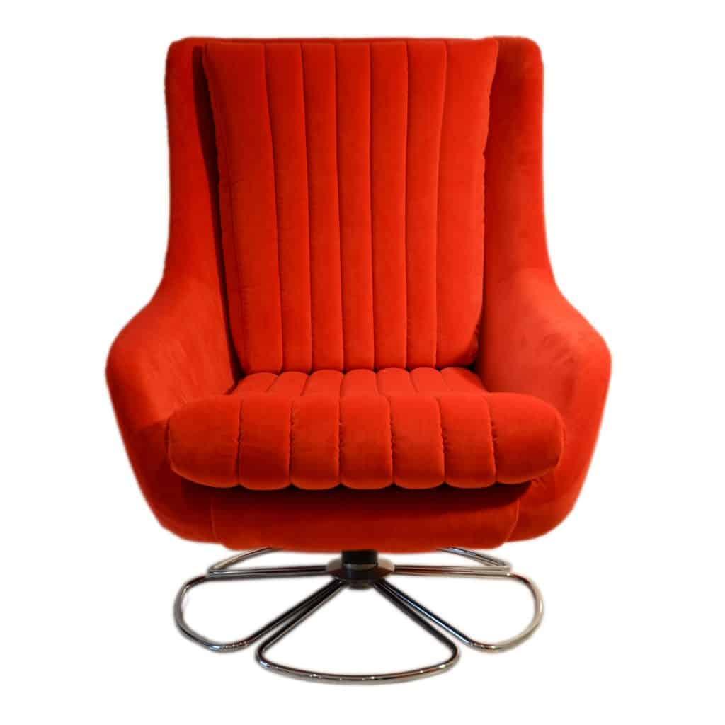 Portobello chair red front view shop alsans