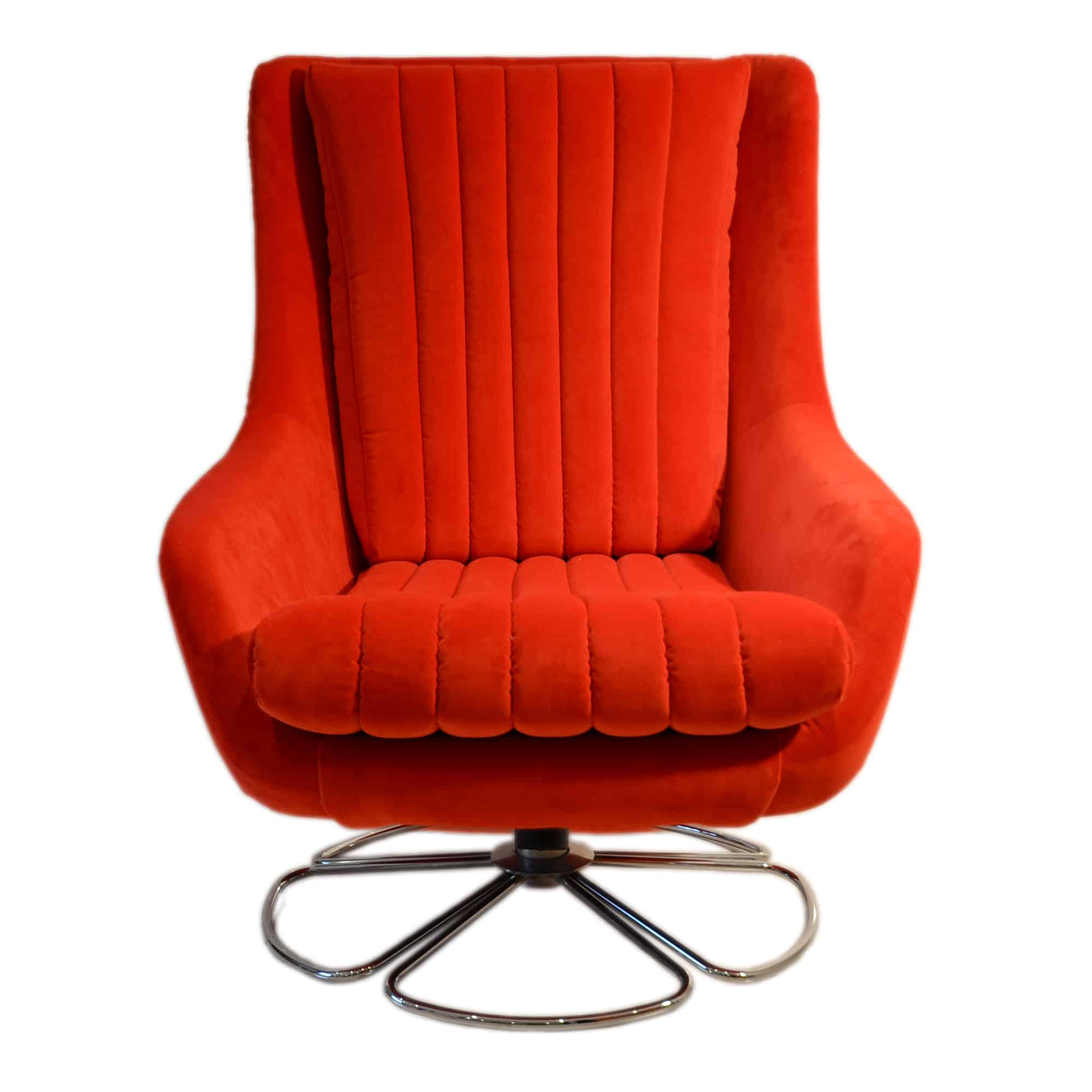 Portobello chair red front view shop alsans