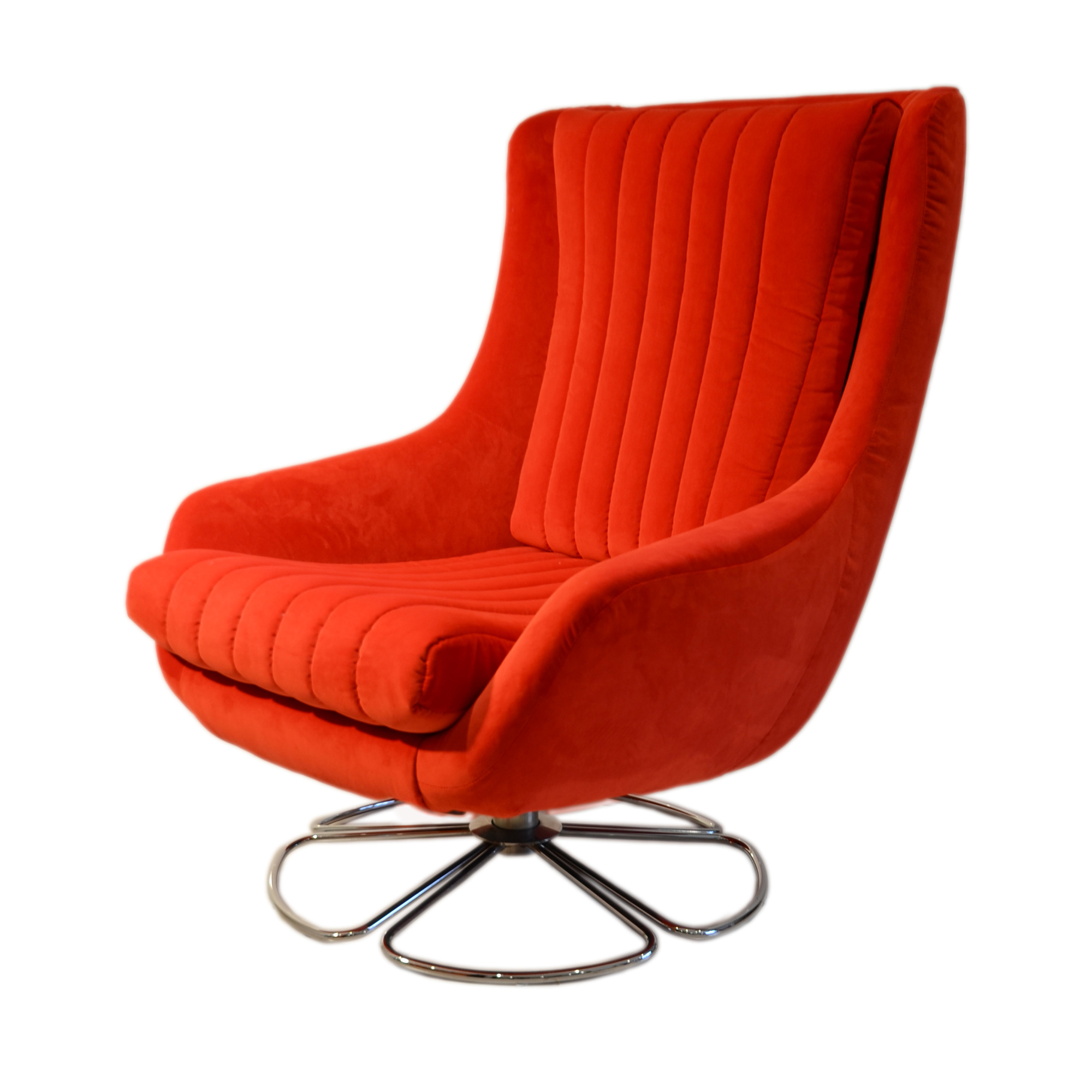 portobello chair side swivel red egg chair