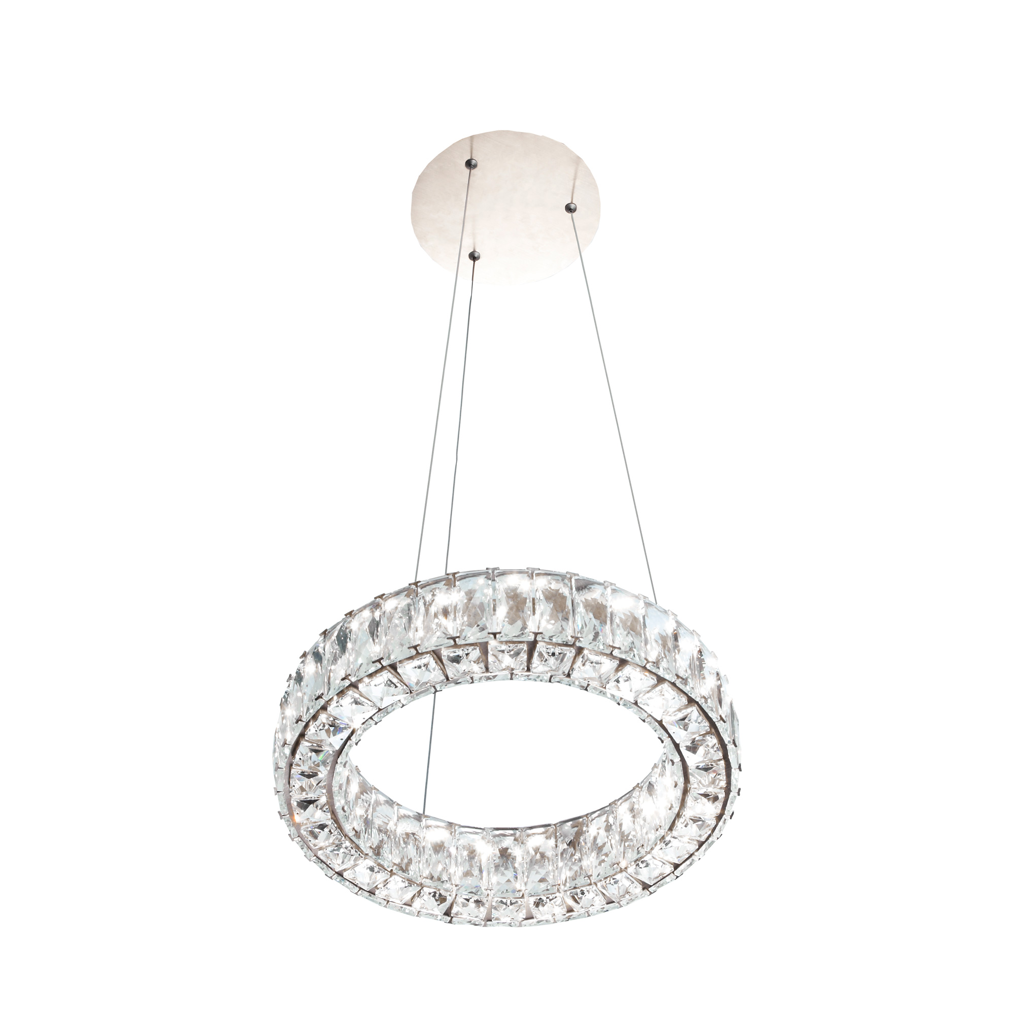 Giness single chandelier shop by alsans giness single chandelier ceiling light in brushed rose gold finish mozeypictures Image collections